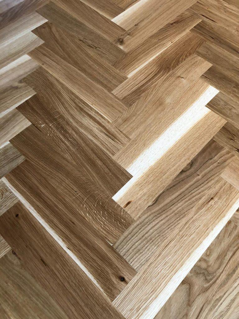 Light brown parquet flooring