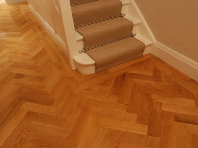 hallway hard wearing acrylic coating parquet