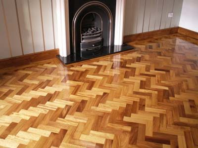gloss coated wood floor